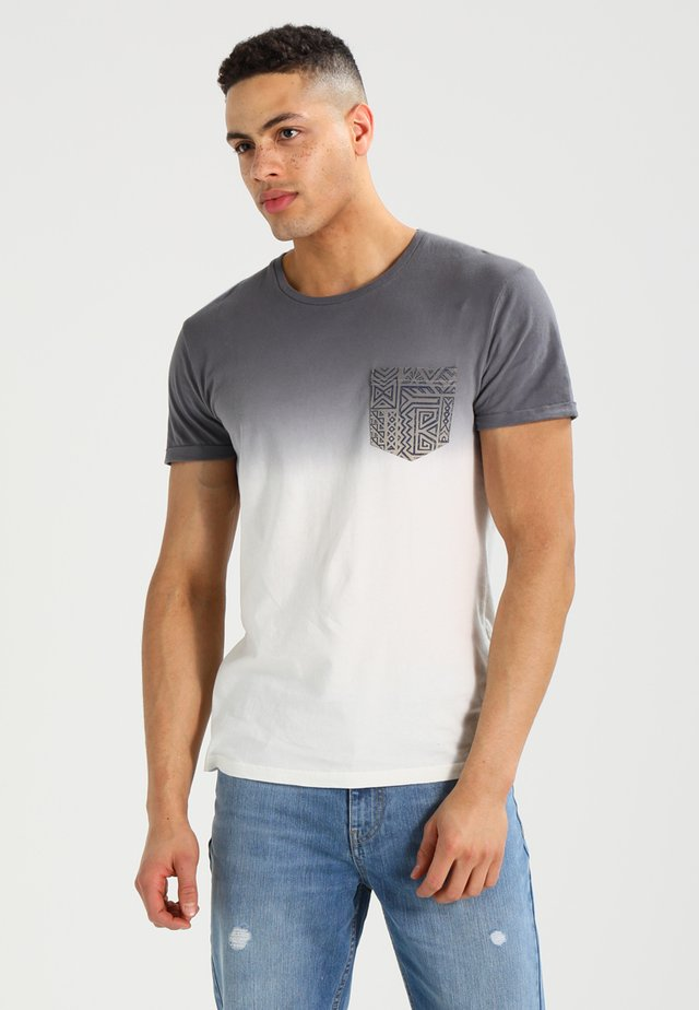 Print T-shirt - white/grey