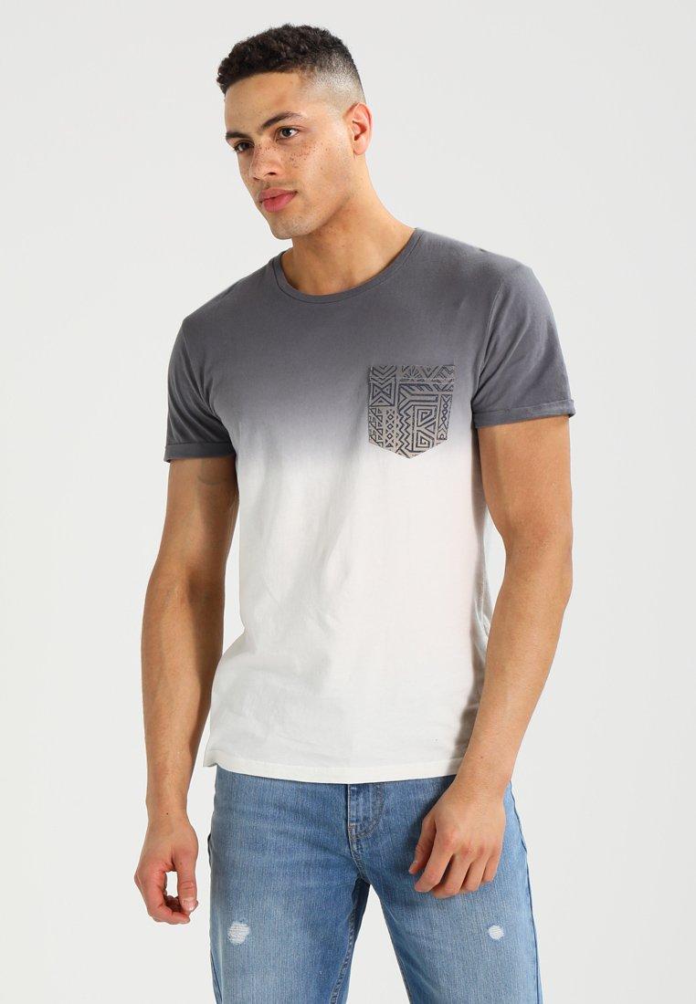 Pier One - T-shirt med print - white/grey