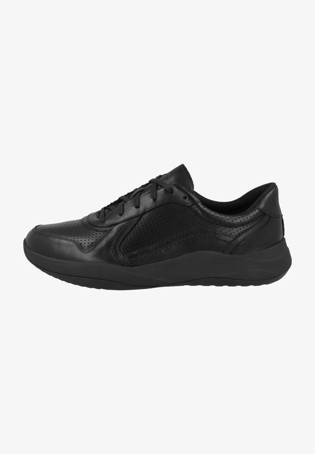 Sneakers laag - black leather