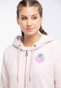 myMo - Zip-up hoodie - rosa melange - 3