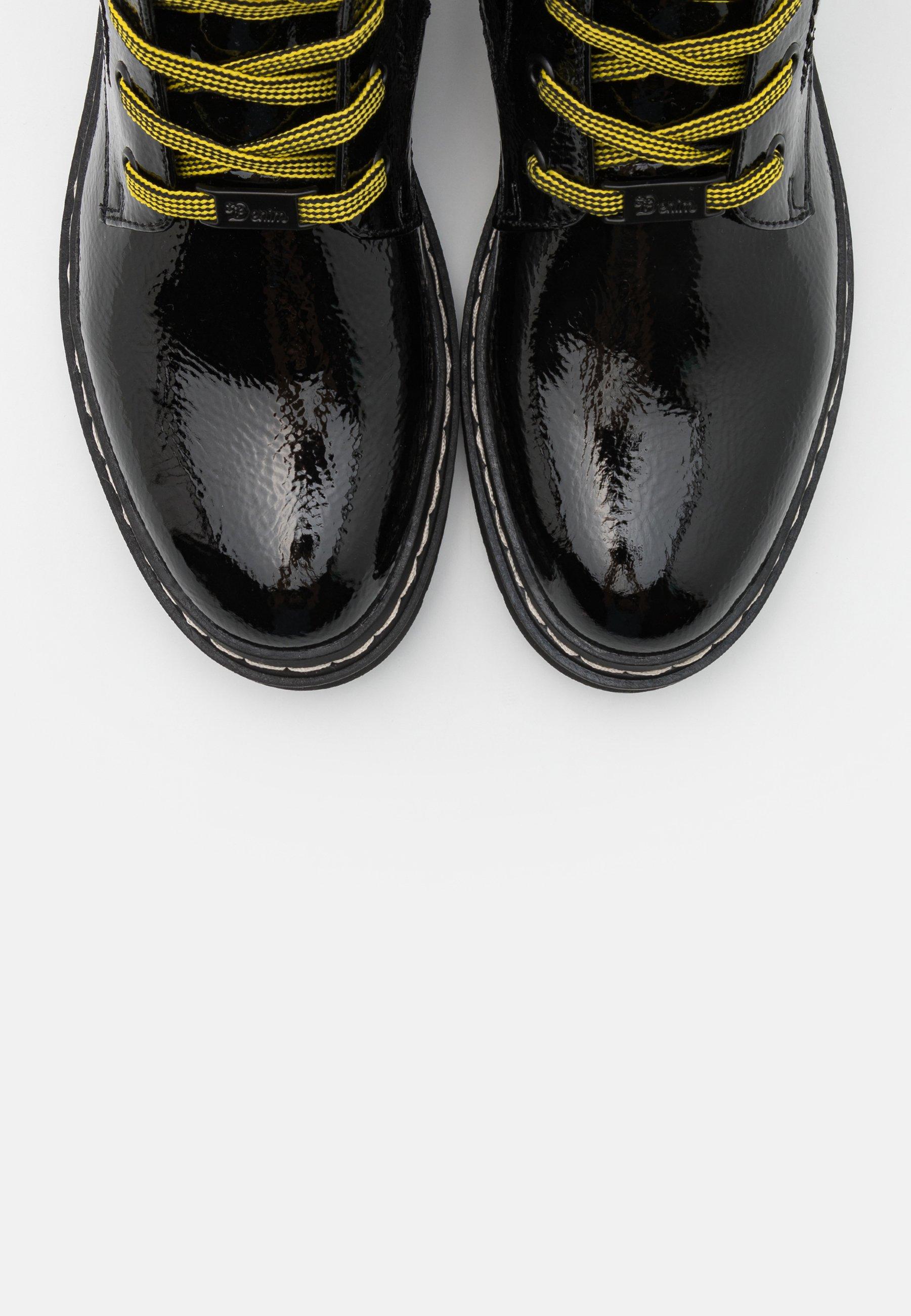 Tom Tailor Denim Schnürstiefelette - Black/schwarz