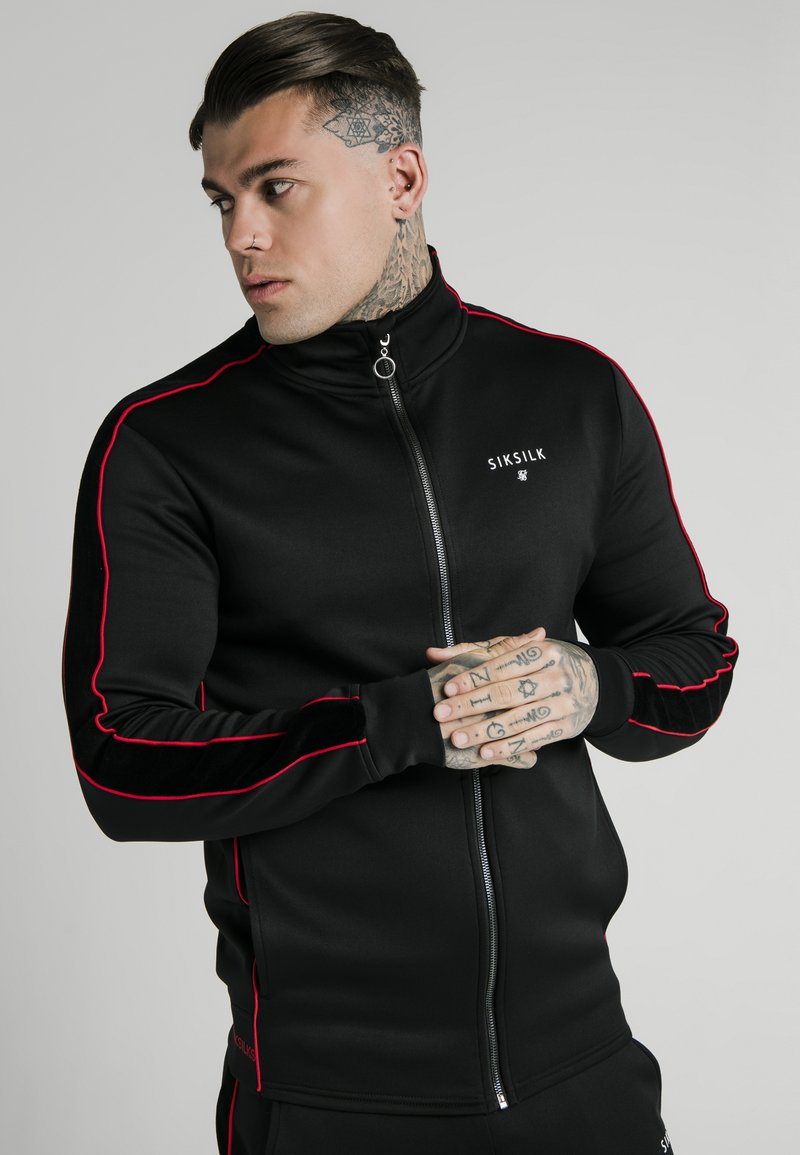 SIKSILK - IMPERIAL ZIP THROUGH FUNNEL NECK - Giacca sportiva - black