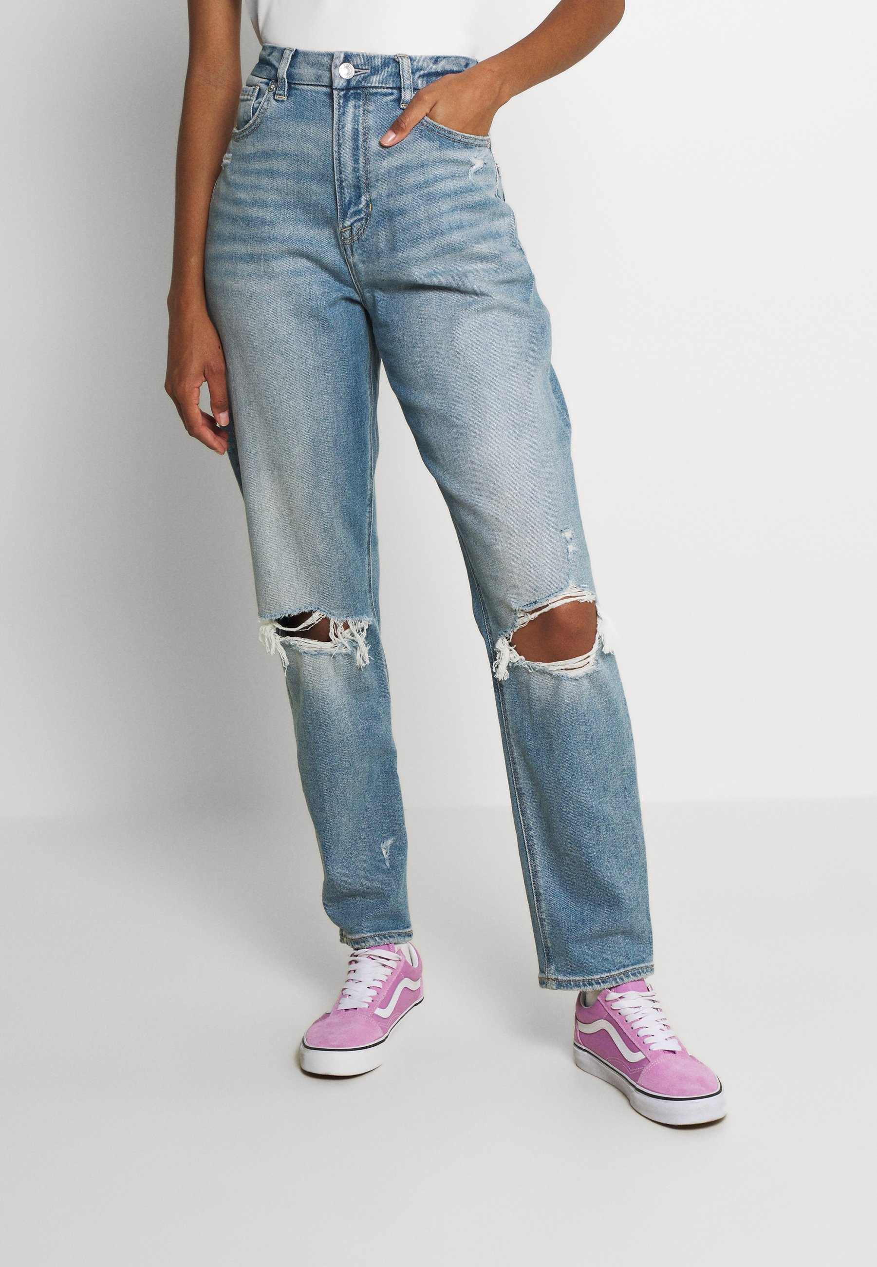 Women CURVY MOM - Straight leg jeans