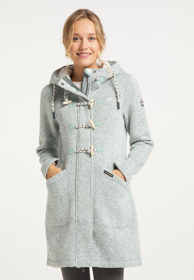 Schmuddelwedda - Krátký kabát - rauchmint melange
