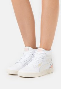 Puma - RALPH SAMPSON MID  - Sneakers alte - white/marshmallow/apricot blush - 6