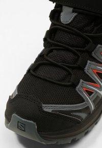 Salomon - XA PRO 3D MID  - Hiking shoes - black/stormy weather/cherry tomato - 2