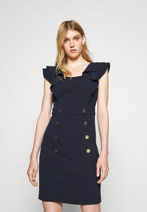 FLUTTER CAP SLEEVE - Jerseyklänning - spring navy