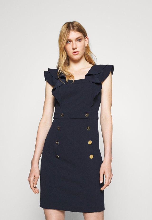 FLUTTER CAP SLEEVE - Vestito di maglina - spring navy