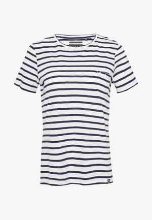 ORANGE LABEL CREW NECK TEE - Camiseta estampada - navy stripe