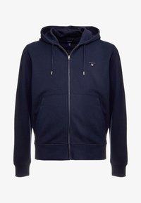 GANT - THE ORIGINAL FULL ZIP HOODIE - Zip-up hoodie - evening blue - 4