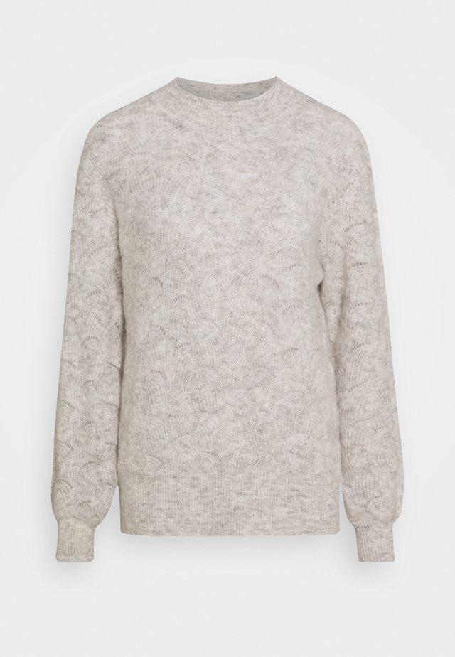 HILL - Stickad tröja - oatmeal melange