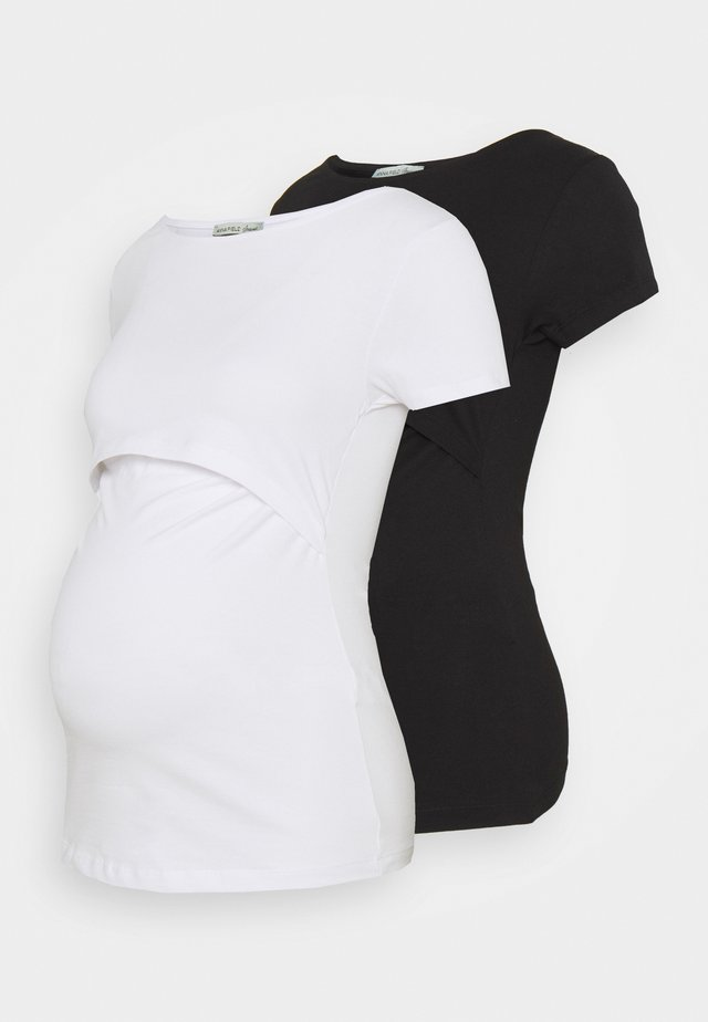 NURSING 2er PACK - Basic T-shirt - Jednoduché triko - black/white