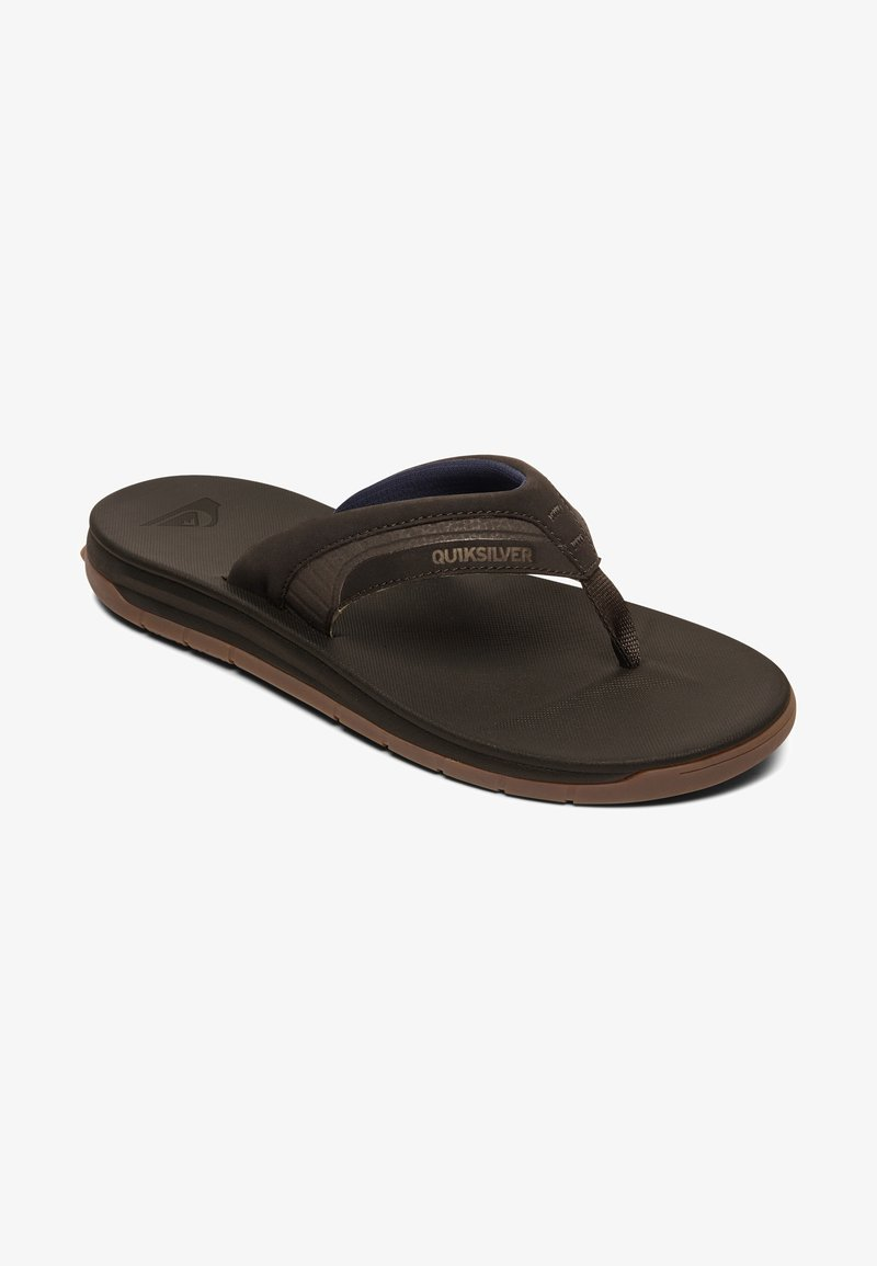 Quiksilver - T-bar sandals - brown/brown/brown