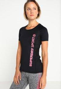 Superdry - T-shirt sportiva - black - 0