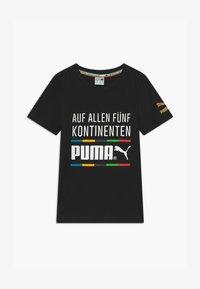 Puma - GRAPHIC TEE - Print T-shirt - black - 0