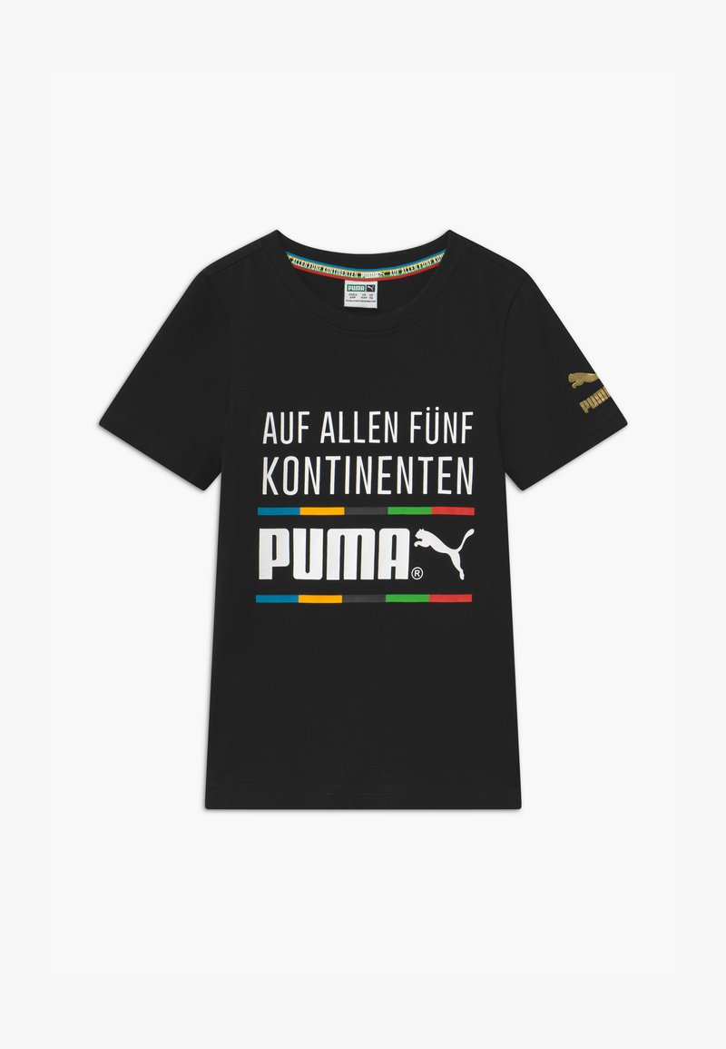 Puma - GRAPHIC TEE - Print T-shirt - black
