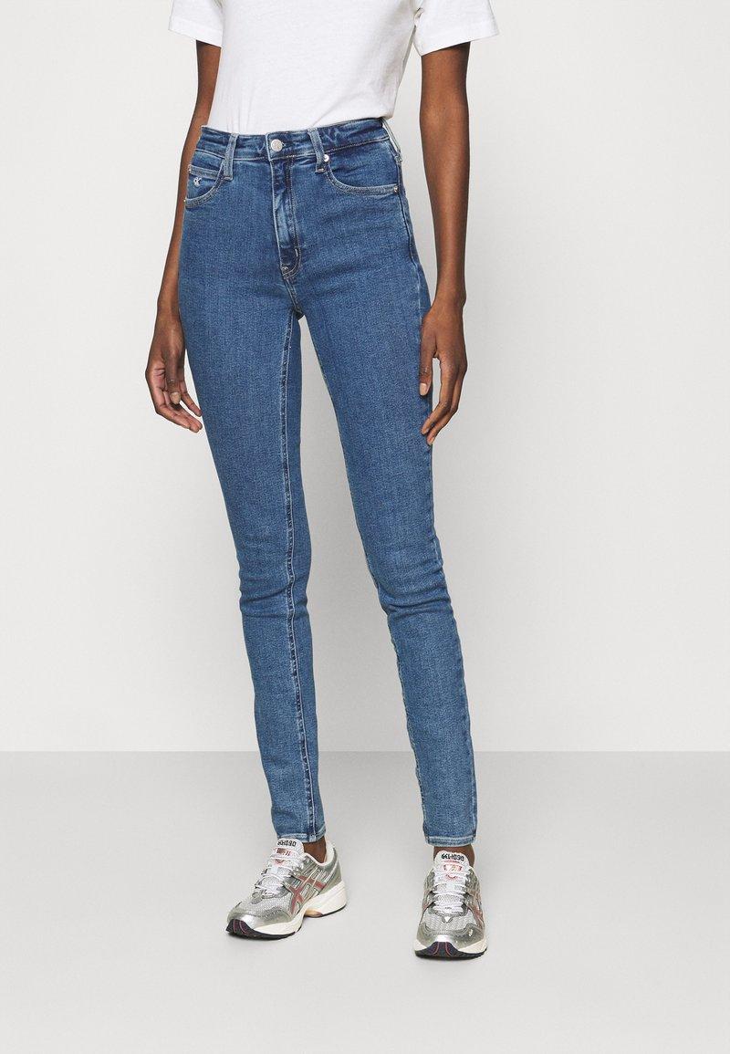 Calvin Klein Jeans - HIGH RISE SKINNY - Skinny džíny - blue