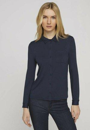 Button-down blouse - sky captain blue