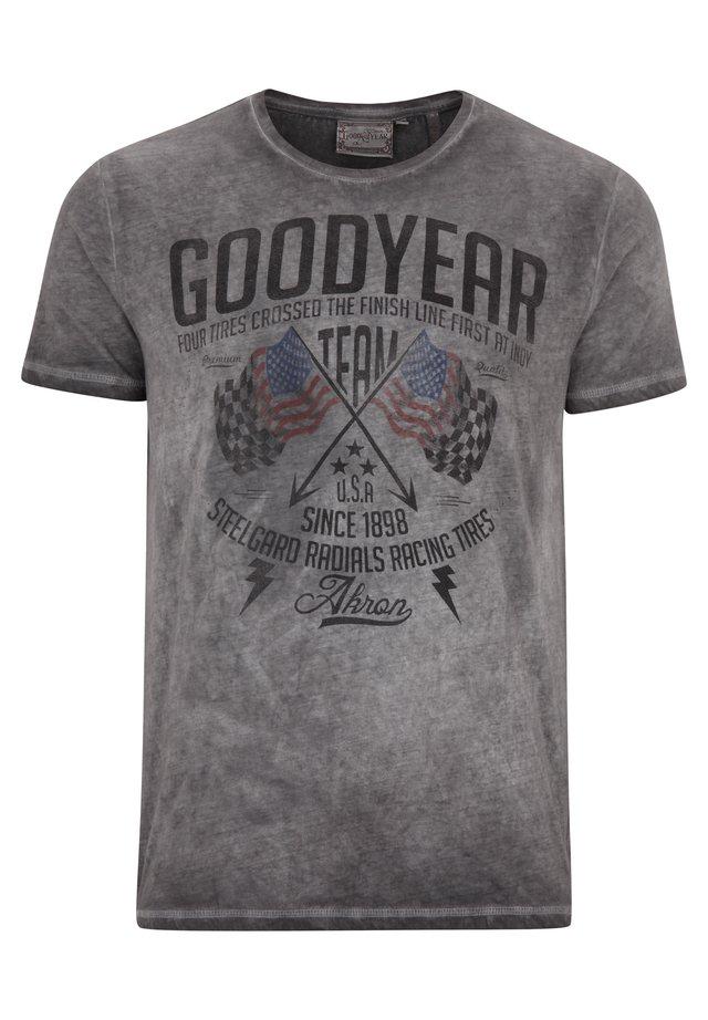 FERNALD - Print T-shirt - vintage grey