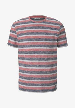 GESTREIFTES - T-shirt con stampa - red multi fine stripe