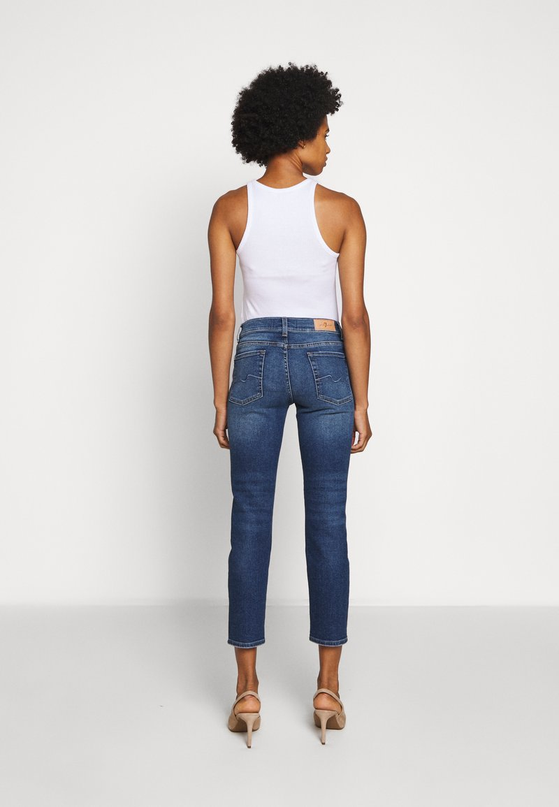 7 for all mankind ROXANNE ANKLE - Jeans Straight Leg - mid blue/blau gldySZ