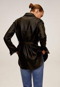 Mango - ANAIS - Faux leather jacket - schwarz - 2