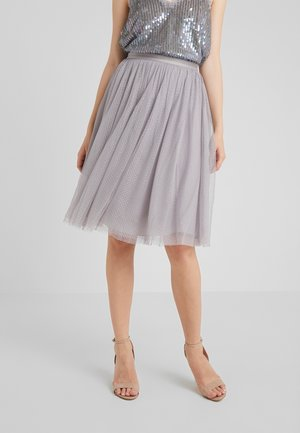 DOTTED MIDI SKIRT - A-Linien-Rock - orchid