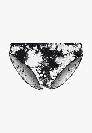 JENNA TIE DYE BRIEF - Bikiniunderdel - black/beige