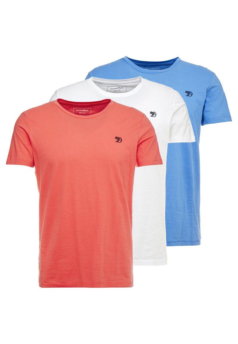 TOM TAILOR DENIM - PACKAGING - T-shirt - bas - white