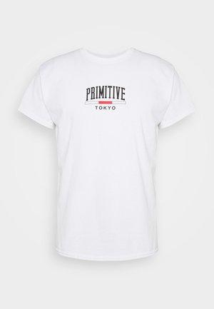 TOKYO ARCH TEE - Print T-shirt - white