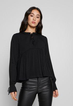 NMAYTA FLARE - Long sleeved top - black
