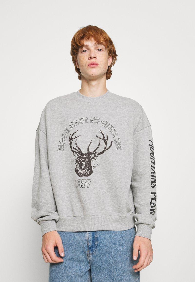 Jaded London - DEER GRAPHIC - Sweatshirt - grey marl