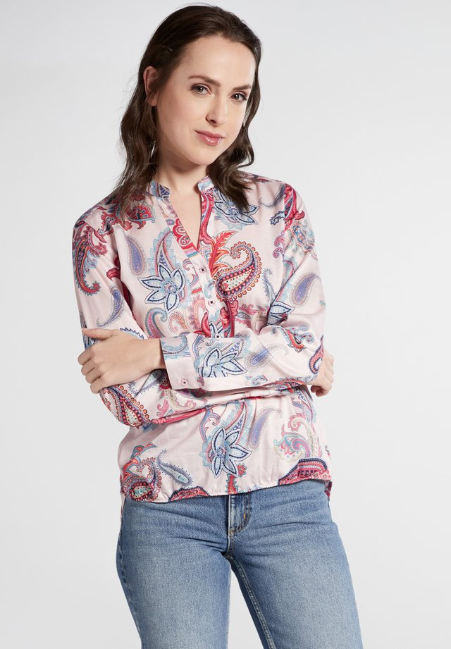 MODERN CLASSIC - Blouse - coral/blue/white