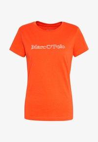 Marc O'Polo - SHORT SLEEVE ROUND NECK - Camiseta estampada - sunset orange - 3