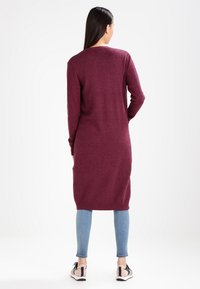 Vila - VIRIL LONG CARDIGAN  - Cardigan - fig/melange - 2