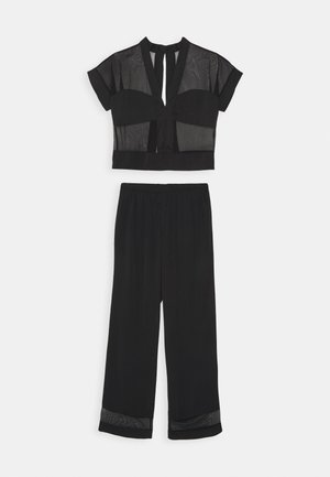 RICHMOND TOP AND TROUSER SET - Pyjamas - black