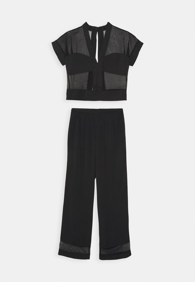 RICHMOND TOP AND TROUSER SET - Pyjama - black