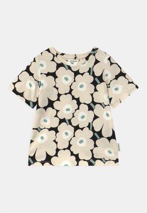 SOIDA MINI UNIKOT - Print T-shirt - black/beige/light green