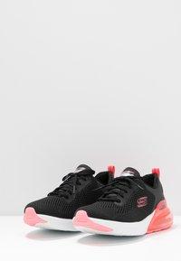 Skechers Sport - SKECH-AIR STRATUS - Slip-ons - black/hot pink - 4