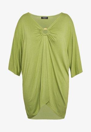 RING DETAIL  - Camiseta de manga larga - olive