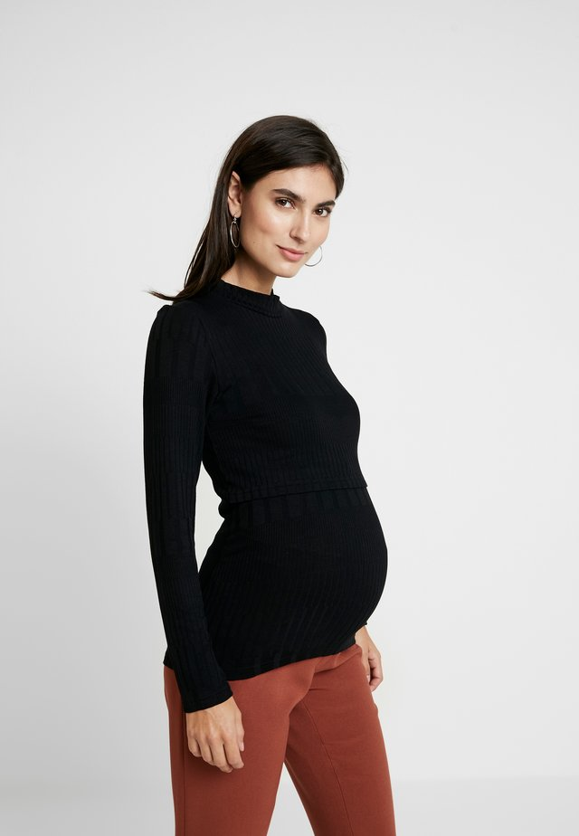 LONG SLEEVE NURSING  - Long sleeved top - black