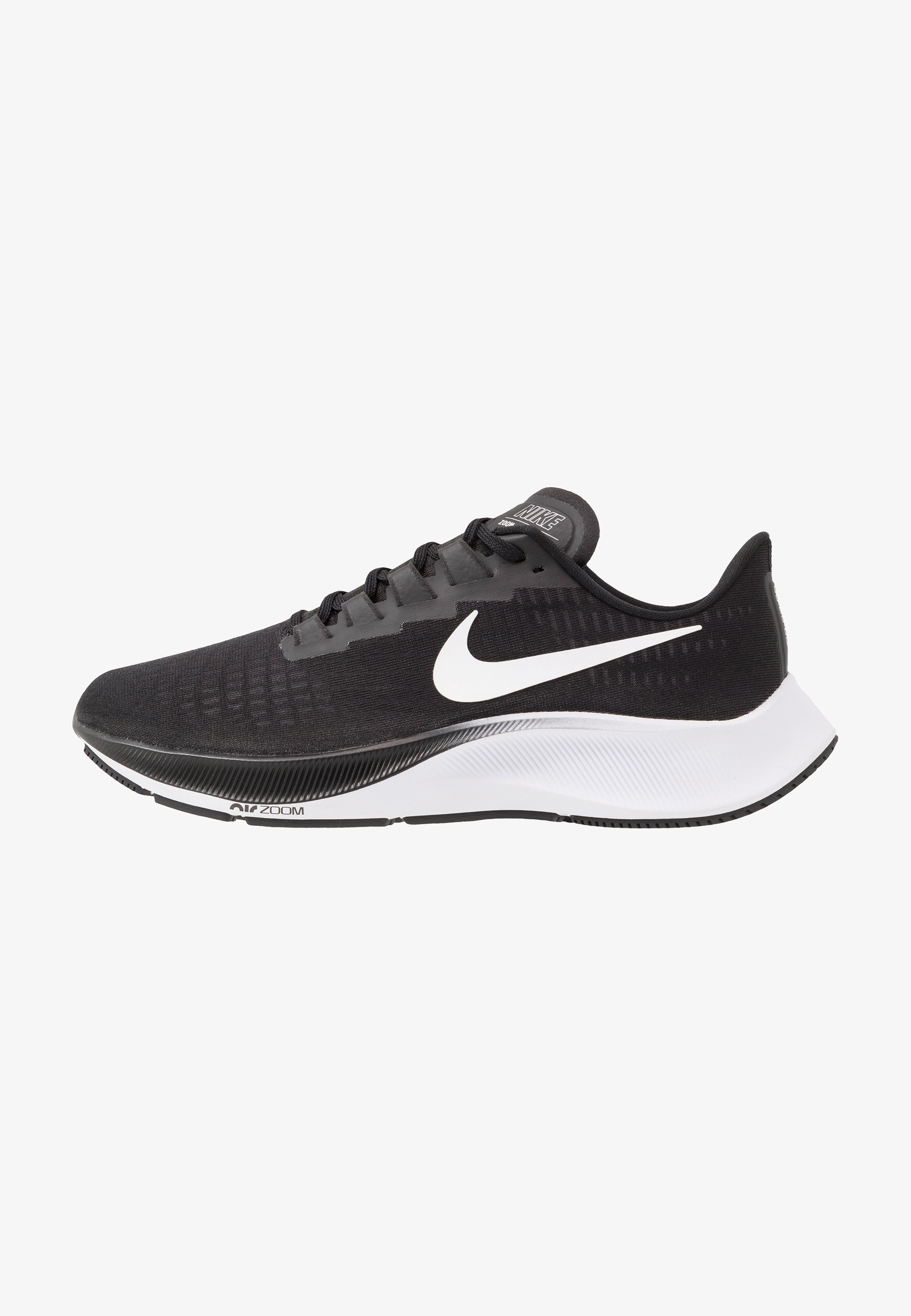 Ciudad Menda Punto Amado  Nike Performance AIR ZOOM PEGASUS 37 - Neutral running shoes -  black/white/black - Zalando.co.uk