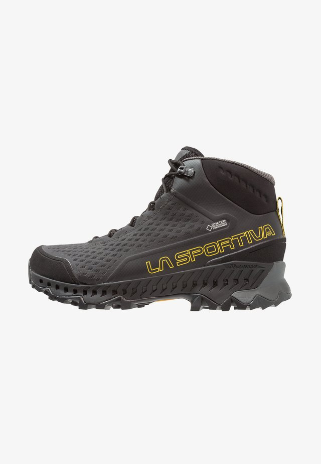 STREAM GTX - Hiking shoes - black/yellow