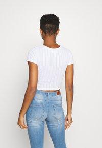 Even&Odd - 3 PACK - T-shirt basic - black/mottled green/white - 2