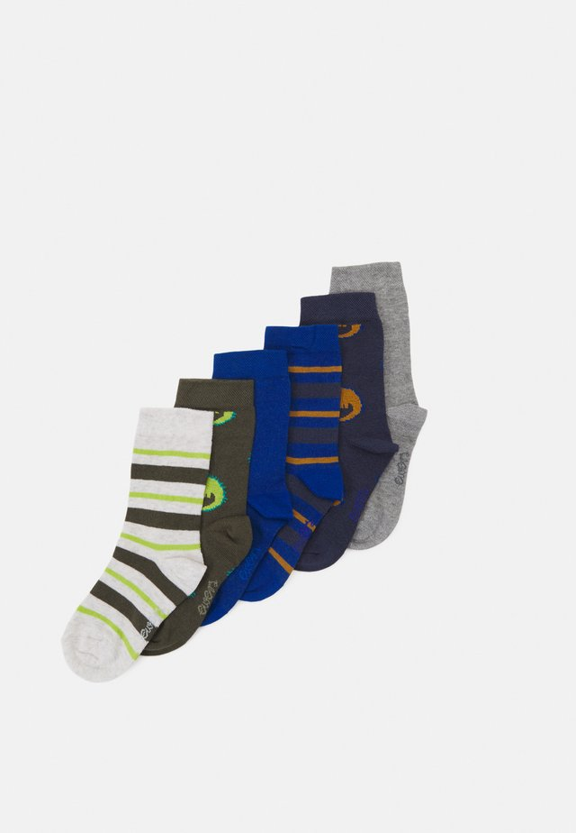 KIDSSOCKS CROCODILE 6 PACK - Socks - tinte/oliv