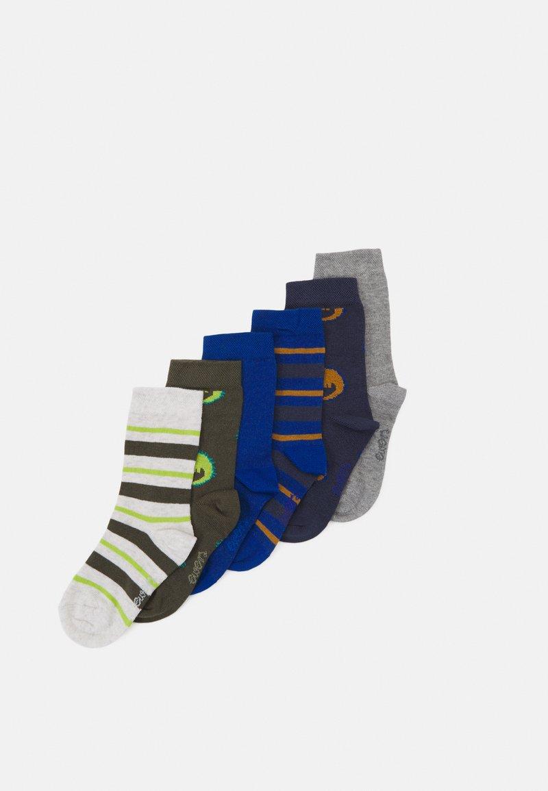 Ewers - KIDSSOCKS CROCODILE 6 PACK - Socks - tinte/oliv
