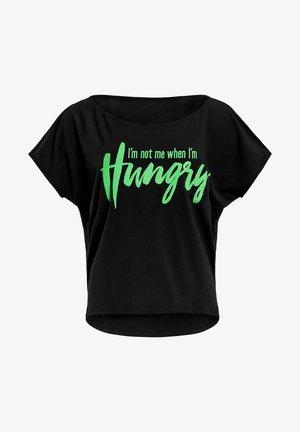 MCT002 ULTRA LIGHT  - Print T-shirt - black/glitter/neon green