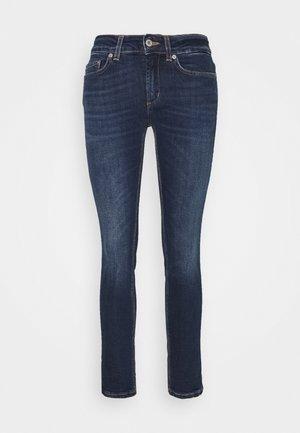 Straight leg jeans - bue denim