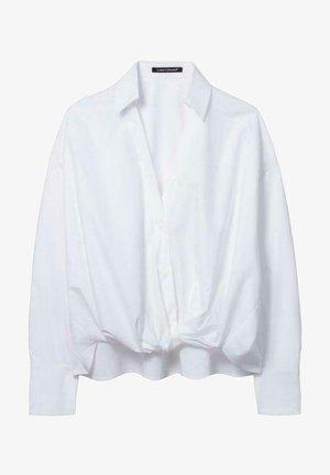 MIT WICKELEFFEKT - Button-down blouse - weiß