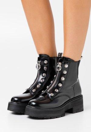 MILLICENT - Platform ankle boots - black